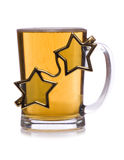 Pint of beer with star glasses cut out Royalty Free Stock Photo