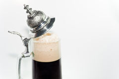 Pint of dark beer Royalty Free Stock Photos