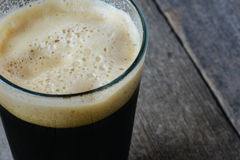 Pint of Dark Beer Royalty Free Stock Photography