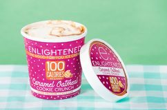 Pint of Enlightened Ice Cream Royalty Free Stock Photography