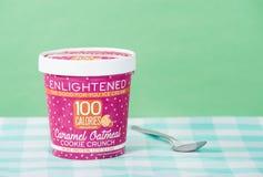 Pint of Enlightened Ice Cream Stock Photo