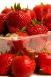 Pint Erdbeeren Stockbild