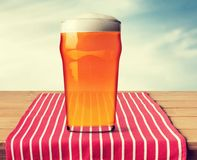 Pint Glass. Beer Beer Glass Alcohol Isolated Drink Lager stock photography
