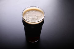 Pint glass of beer Royalty Free Stock Photo