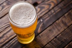 Pint of light beer Royalty Free Stock Image