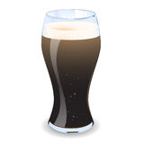 Pint Of Guiness. A  illustration of a pint of guiness with froth and bubbles. Eps V10 Stock Photography