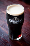 Pint of Guinness. Cold, refreshing pint of Guinness stout stock images