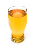 Pint of hard cider in a glass. Isolated on a white background Stock Photo