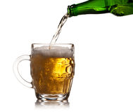 Pint mug of beer Royalty Free Stock Photography
