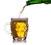 Pint mug of beer Royalty Free Stock Photos