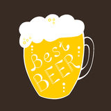 Pint mug best beer text yellow illustration Stock Images