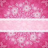 Pint valentines day doodle flowers background Stock Photos