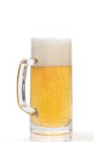 Pint van bier op een wit Royalty-vrije Stock Foto