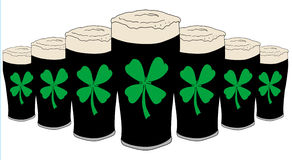 Pinta afortunada da cerveja Foto de Stock Royalty Free