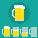 Pinta da cerveja ilustração royalty free