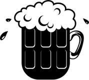 Pinta da cerveja ilustração do vetor