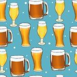 Pinta da telha da caneca de cerveja Imagem de Stock