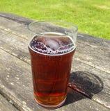 Pinta de cerveza inglesa Fotos de archivo libres de regalías