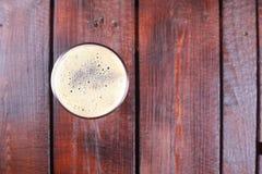 Pinta di birra di malto Fotografia Stock