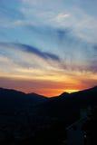 Pinta o por do sol Fotos de Stock Royalty Free