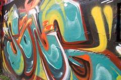 Pintada abstracta de un artista no identificado en la pared Fotos de archivo libres de regalías