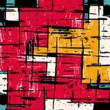 Pintada abstracta geom?trica colorida brillante del modelo stock de ilustración