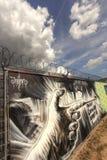 Pintada anti del capitalismo Imágenes de archivo libres de regalías