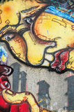 Pintada - arte de la calle Imagen de archivo