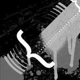 Pintada blanco y negro del error tipográfico Fotografía de archivo