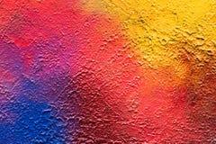 Pintada colorida abstracta en el yeso Fotografía de archivo libre de regalías