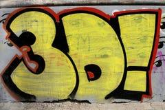 Pintada colorida en la pared de la calle Imagen de archivo libre de regalías