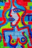 Pintada con las tetas al aire abstracta de la señora Foto de archivo libre de regalías