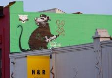 Pintada de Banksy Imagen de archivo libre de regalías