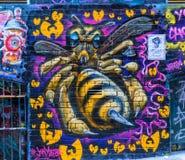 Pintada de la abeja en el carril del Hosier, Melbourne Foto de archivo