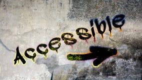 Pintada de la calle a accesible libre illustration