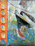 Pintada de la nave imagen de archivo libre de regalías
