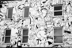 Pintada de la pared imagenes de archivo