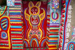 Pintada de la pared, callejón pintado, colorido, fotos de archivo