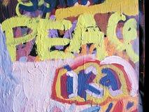 Pintada de la PAZ Foto de archivo libre de regalías