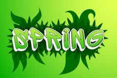 Pintada de la primavera Stock de ilustración