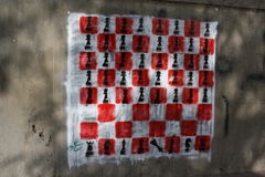 Pintada de la revolución Imagen de archivo