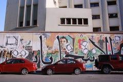 Pintada de la revolución en Egipto en el AUC Fotos de archivo libres de regalías