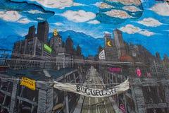 Pintada de la salida de la calle fotografía de archivo