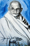 Pintada de Mahatma Gandhi Foto de archivo libre de regalías