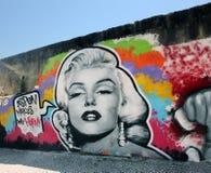Pintada de Marilyn Monroe fotos de archivo libres de regalías