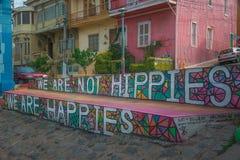 Pintada de Valparaiso y arte de la calle Imágenes de archivo libres de regalías