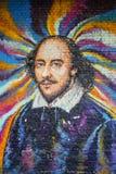 Pintada de William Shakespeare en Londres fotos de archivo