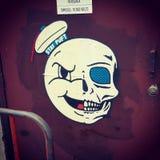 Pintada del cráneo Foto de archivo