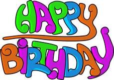 Pintada del feliz cumpleaños imágenes de archivo libres de regalías
