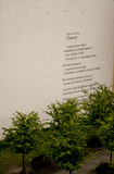 """Pintada del poema en el """"de PoznaÅ, Polonia fotografía de archivo"""